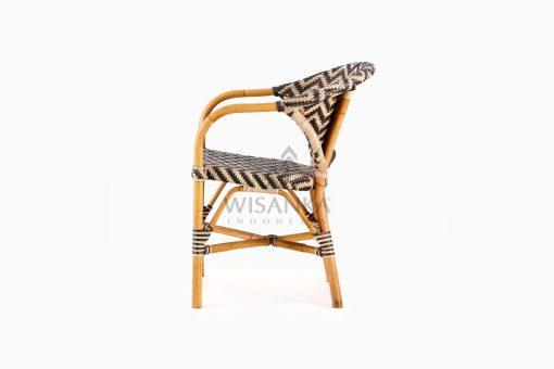 Dean Dining Arm Rattan Bistro Chair Side