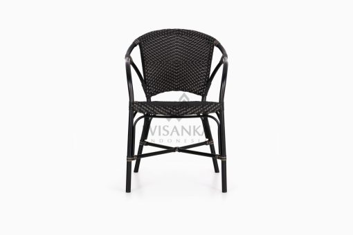 Edward Dining Arm Rattan Bistro Chair front