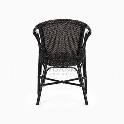 Edward Dining Arm Rattan Bistro Chair rear