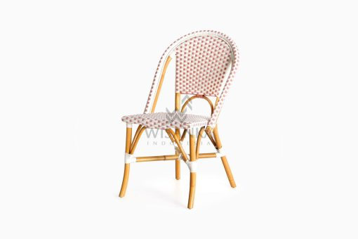 Farah Dining Arm Wicker Bistro Chair perspective