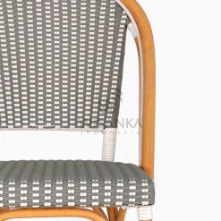 Josh wicker dining Bistro Chair detail