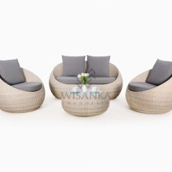 Carmo Rattan Wicker Outdoor Living Set