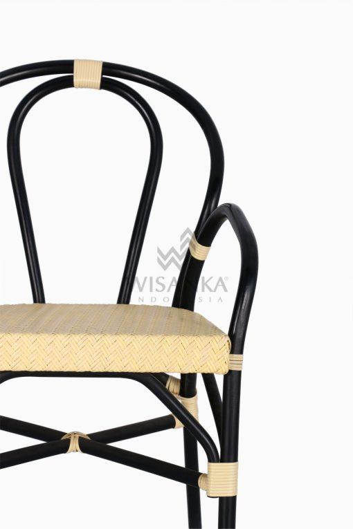 Viana Rattan Wicker Bistro Chair detail