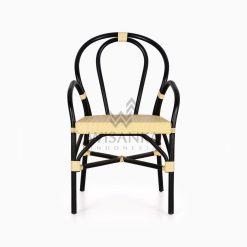 Viana Rattan Wicker Bistro Chair front