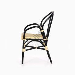 Viana Rattan Wicker Bistro Chair side