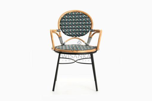 Aira Bistro Chair, Wicker Rattan Chair front