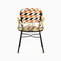Kiku Rattan Outdoor Bistro Chair rear