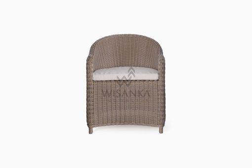 Molde Outdoor Rattan Patio Arm Chair front