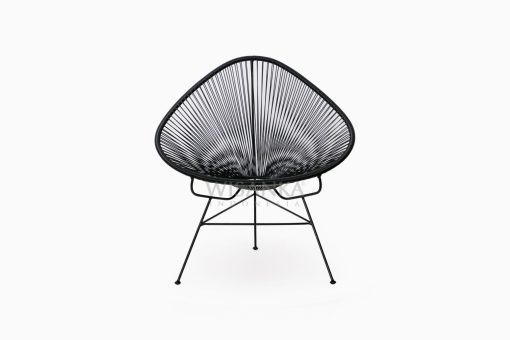 Relaxing Synthetic Rope Outdoor Chair front