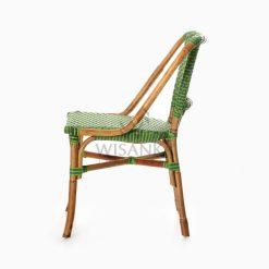 Yori Outdoor Rattan Bistro Chair side