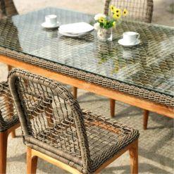 Tropical Dining Set - Outdoor Rattan Patio Furniture detail (3)