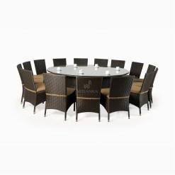 Balkan Dining Set - Outdoor Rattan Patio Furniture