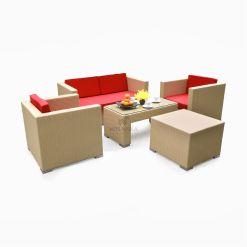 Benneton Living Set - Garden Rattan Cube Set