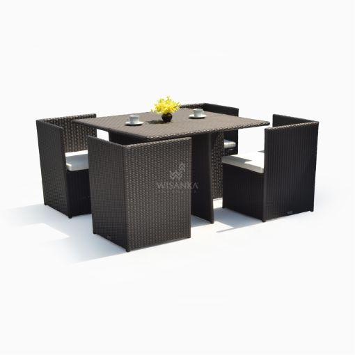 Bogor Dining Set - Garden Rattan Cube Set