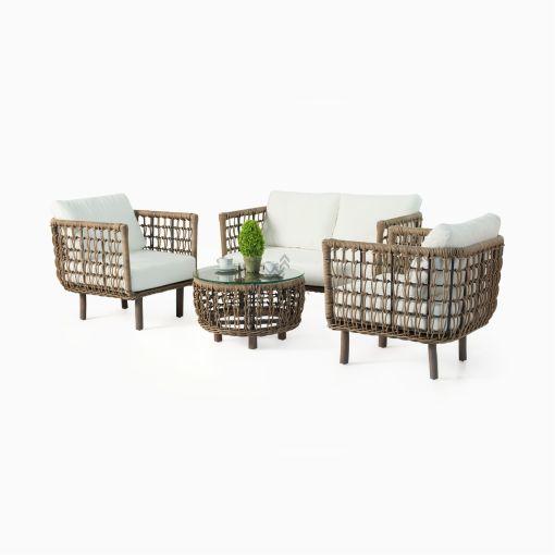 Sissy Living Set - Outdoor Garden Rattan Furniture
