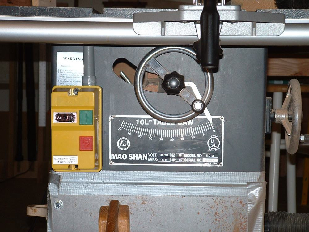 medium resolution of  table saw motor starter in the shop