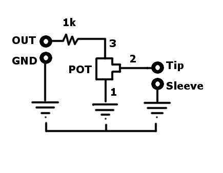 How to wire a volume pot to the output signal of any DIY