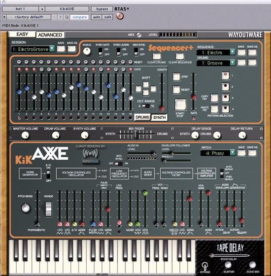 KikAxxe Arp Axxe virtual synthesizer