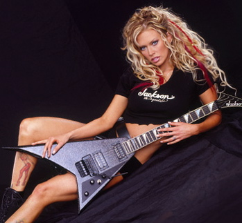 Jenna Jameson on Guitar