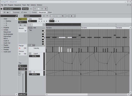 Linux audio sequencer