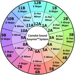 Camelot mixed in key harmonic mixing