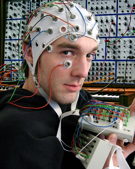though-controlled synthesizer