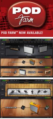 Line 6 Turns POD Amp Simulators Into Plug-Ins: POD Farm And