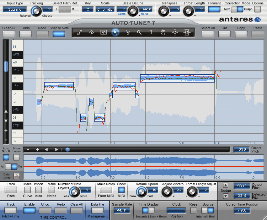 auto tune 7 now corrects vocal timing can still make you sound