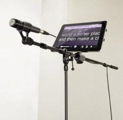 iKlip iPad mic stand adapter