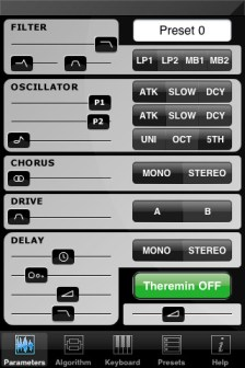 HandSynth iPhone synthesizer