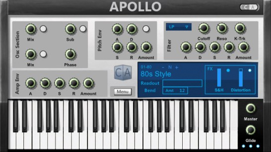 Cubic Audio Apollo VSTi bass synthesizer