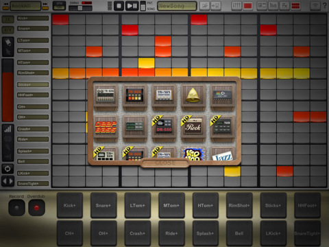 new drumtrackhd drum step sequencer for the ipad synthtopia. Black Bedroom Furniture Sets. Home Design Ideas