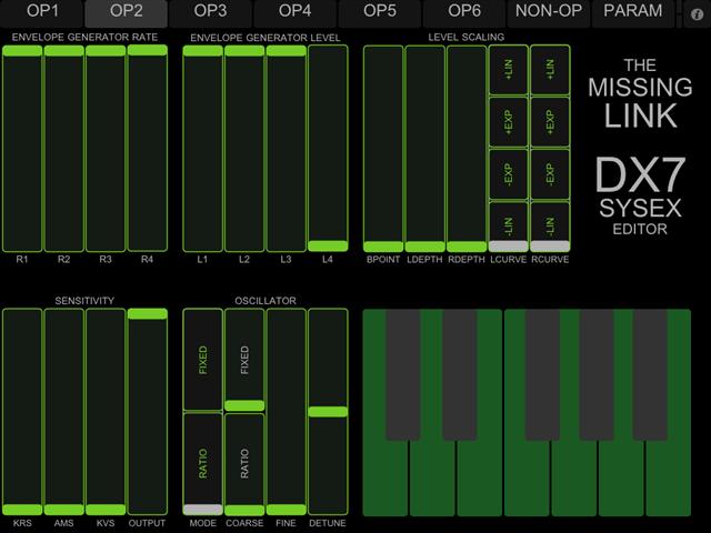 Free iPad DX7 Patch Editor – Synthtopia