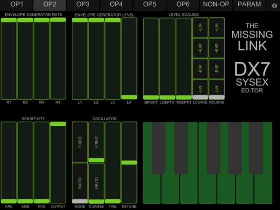 DX7 iPad Programmer