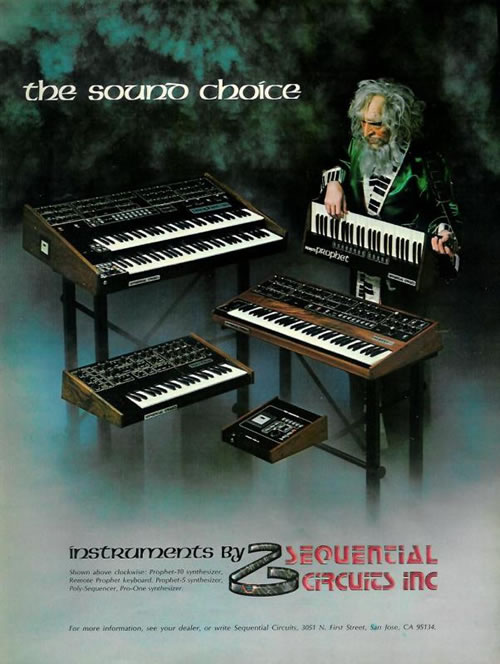 Gandalf Plays The Sequential Circuits Keytar
