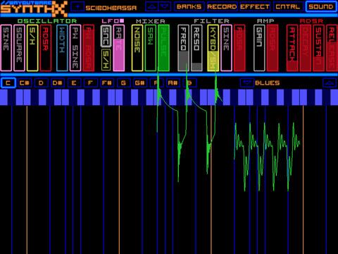 iPad Synthx synthesizer