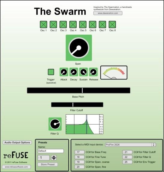The Swarm Inspired by Trent Reznor's Swarmatron synthesizer