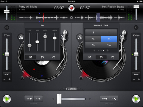 iPad djay software