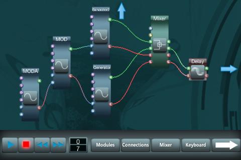 midiPhon modular synthesizer for iOS