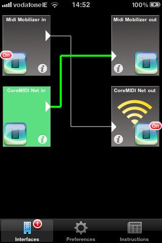 MIDIBridge for iPhone, iPad