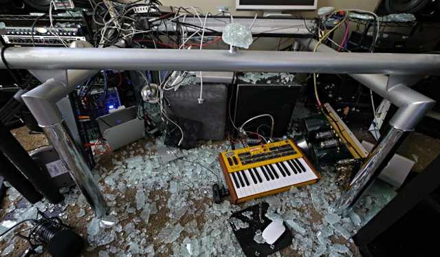 Glass Desk Synth Damage