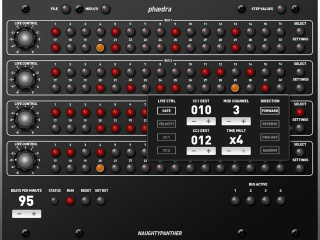 Phaedra iPad MIDI Sequencer