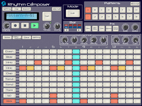 Free iPad Drum Machine
