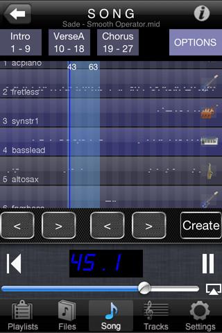 iPhone MIDI player