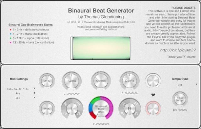 free binaural beat generator for Mac