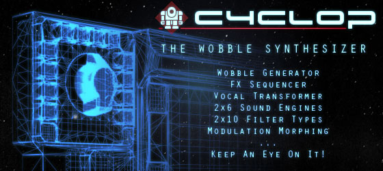 Cyclop dubstep bass synthesizer