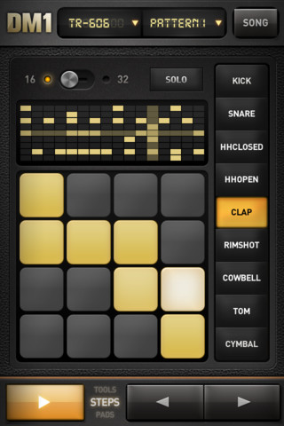 dm1 turns your iphone into a drum machine synthtopia. Black Bedroom Furniture Sets. Home Design Ideas