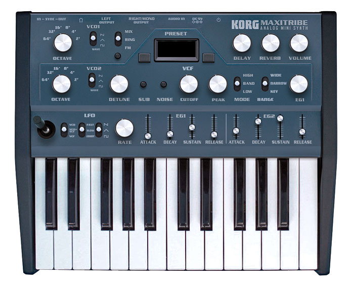 the korg maxitribe analog mini synth too good to be true synthtopia. Black Bedroom Furniture Sets. Home Design Ideas