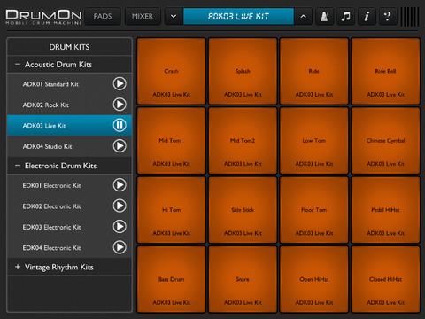 drumon turns ipad into an advance drum pad synthtopia. Black Bedroom Furniture Sets. Home Design Ideas