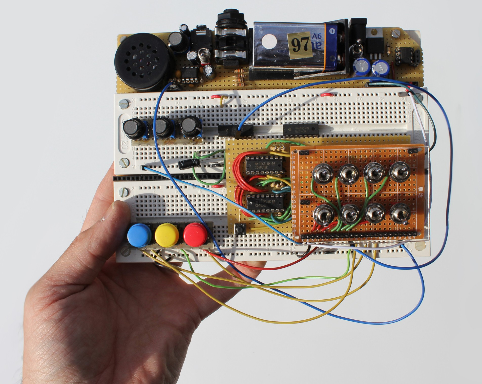 Synthesizer Breadbpard Diagram Electrical Wiring Diagrams Light2sound Ldr Synth Make Breadboard Based Modular System Synthtopia Double Bass